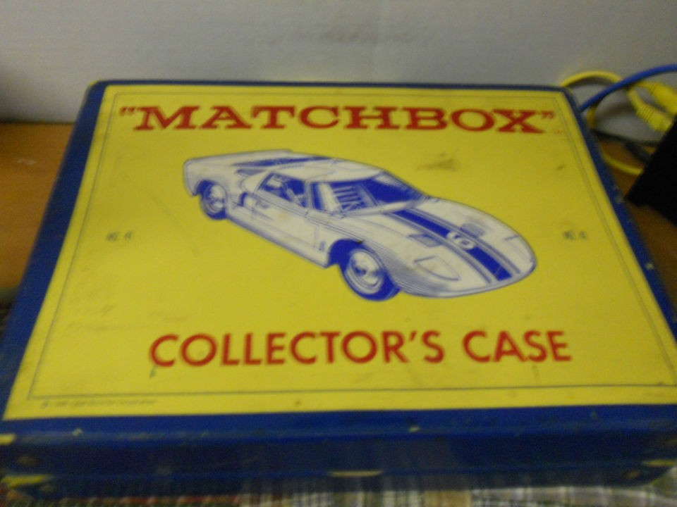 Vintage Matchbox Lesney Lot of Diecast Cars & Carry Case