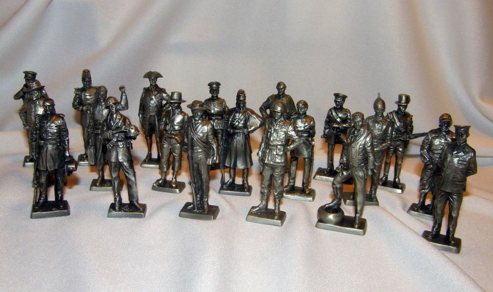1970s Franklin Mint American Military Sculpture Collection pewter