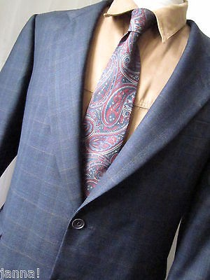 Jacket 44 R Austin Reed Overcheck Tweed Wool Blazer Sport Coat On Popscreen