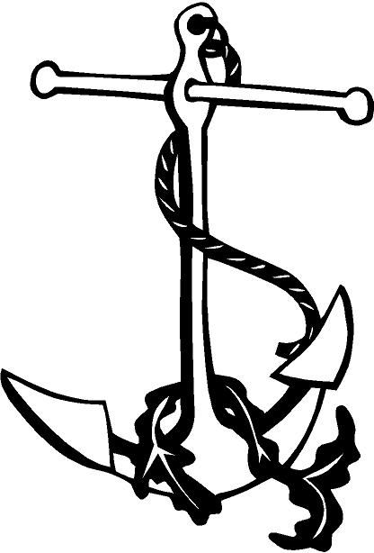 Anchor Vinyl Decal Sticker Car Boat Truck Window