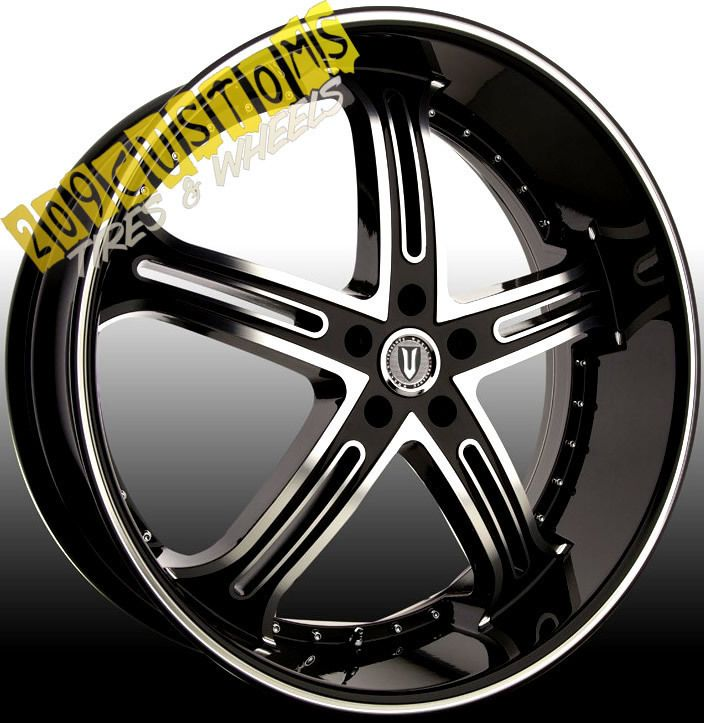 VERSANTE RIMS WHEELS TIRES VW226 BLACK 24X9 5 5X120 RANGE ROVER 2011