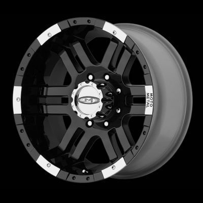 18 Inch Black MO951 RIMS 6 lug Wheels Chevy Silverado Suburban GMC