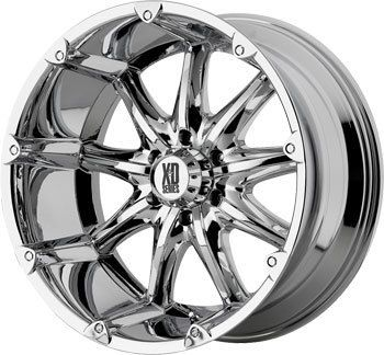 XD XD779 Badlands Chrome Offroad Truck Rims Wheels Nitto Tires
